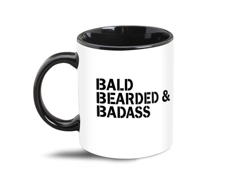 Bald Bearded Badass Coffee Mug 1