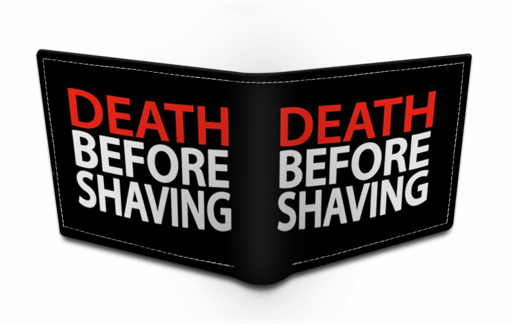 death before shaving black men wallet by beard india beard india. Black Bedroom Furniture Sets. Home Design Ideas
